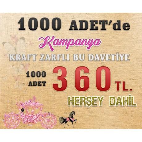 Lila 1358 Davetiye 100 Adet