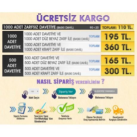 1364 1000 Ad. Ucuz Davetiye